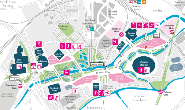 New Olympic Park Map