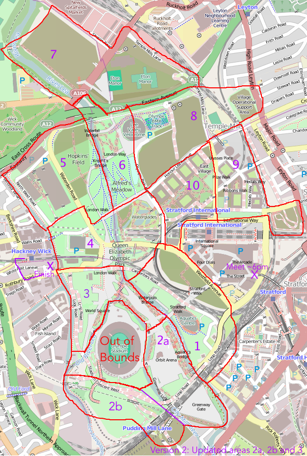 Mapping The Queen Elizabeth Olympic Park Urban Rural